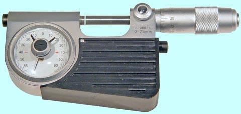Микрометр рычажный ЧИЗ 0,001мм  МР 0-25