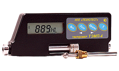 ТЭМП-4к - динамический беспроводной твердомер (в металлическом корпусе) с удлиненной насадкой