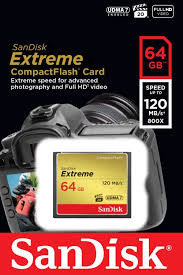 SanDisk 64GB Extreme Pro CompactFlash карты памяти (120Мб / с)