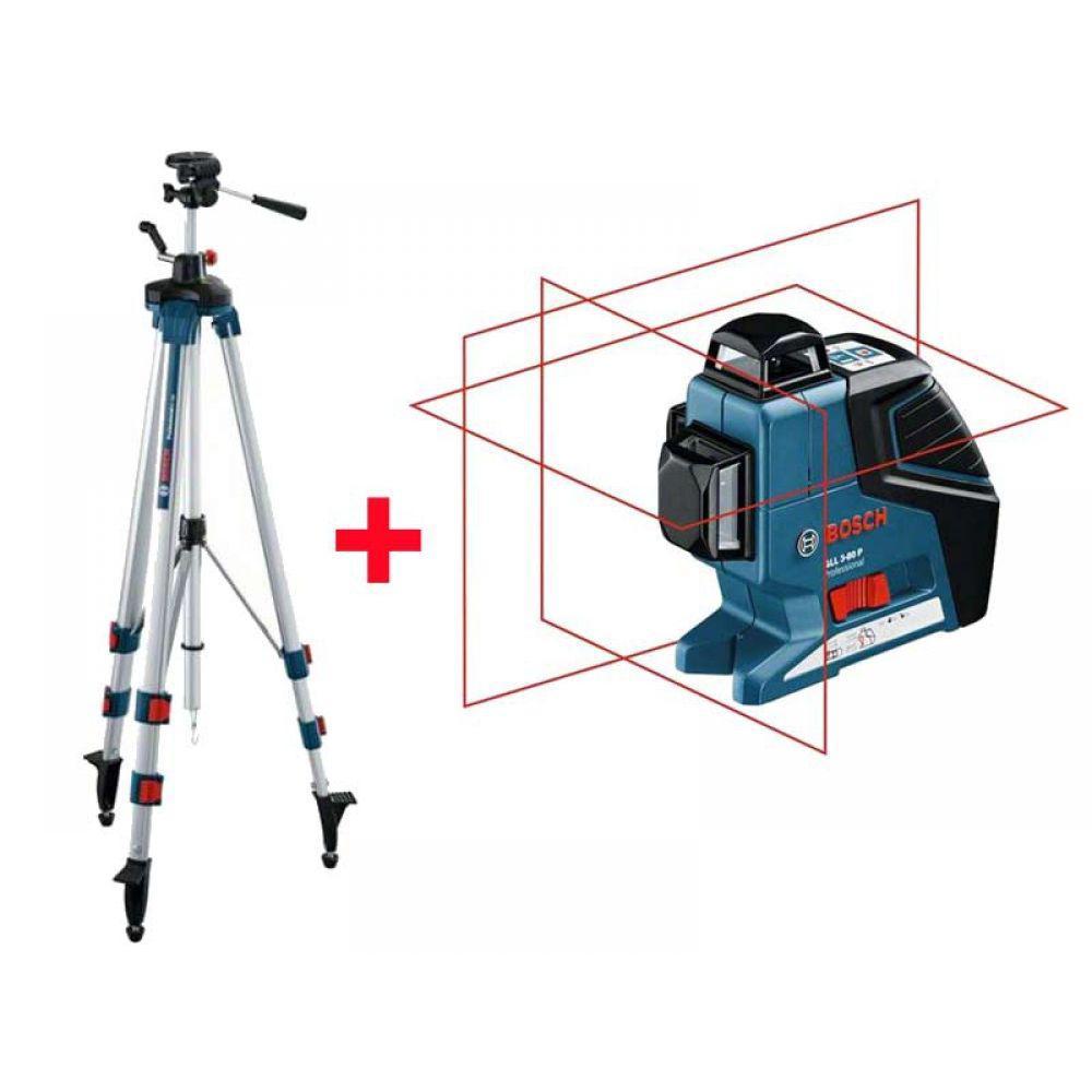 Лазерный уровень Bosch GLL 3-80P (BT250)