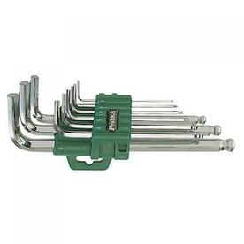 HW-129B/8PK-029B Набор ключей-шестигранников (9шт., удлиненная ручка, шарик) Pro'sKit*