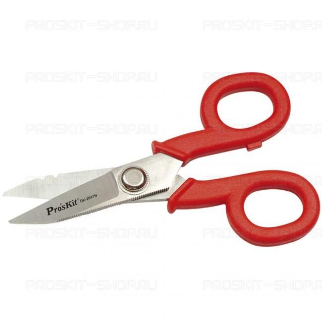 DK-2047N Pro'sKit Ножницы электрика со стриппером (145мм)