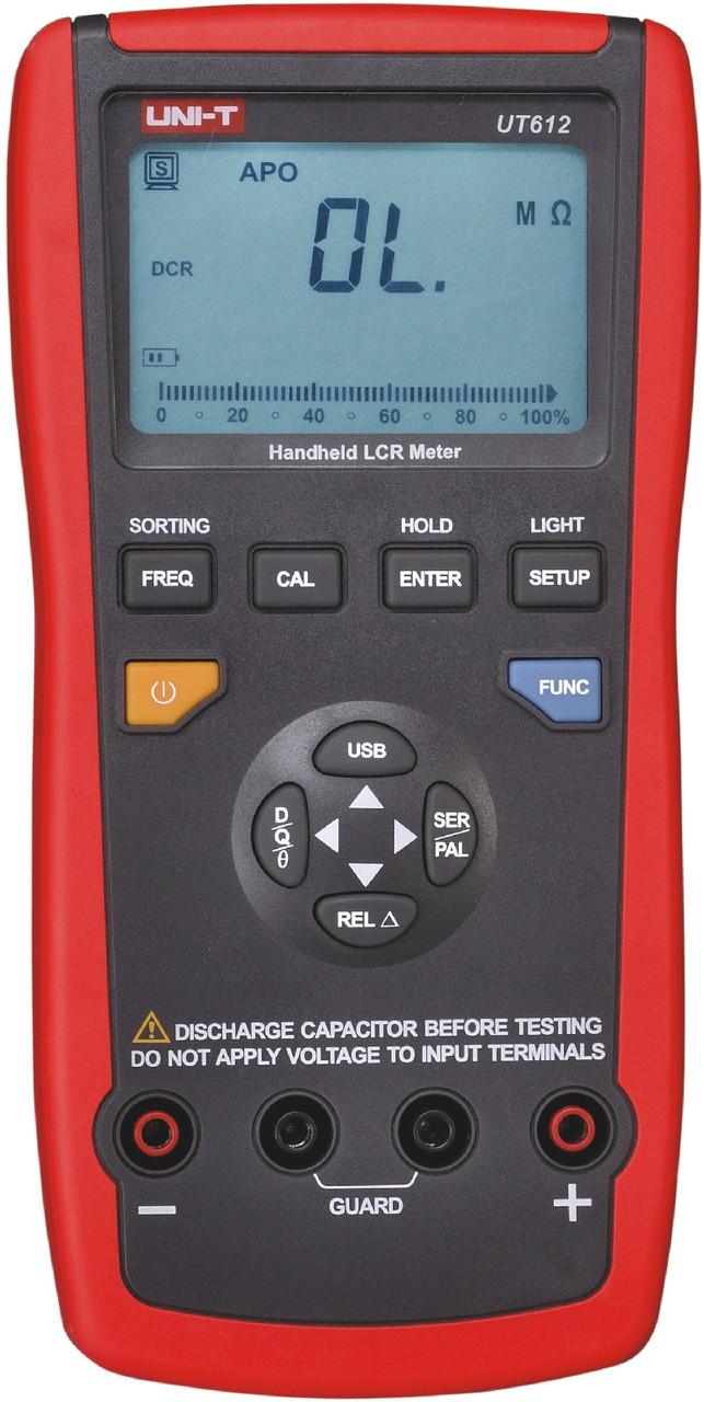 UT612 UNI-T Измеритель RLC цифровой с автоматическим выбором диапазона, порт USB