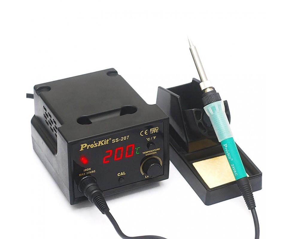 SS-207B Pro'sKit Паяльная станция цифровая (паяльник 60Вт/24В, LED-индикация)