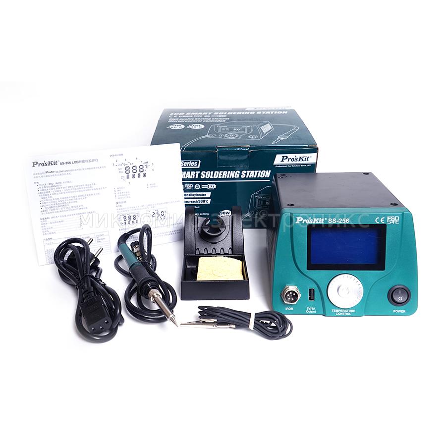 SS-256B Pro'sKit Паяльная станция цифровая с ЖК-дисплеем (220В, 60Вт)