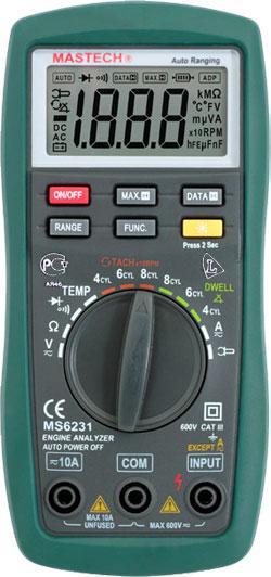 MS6231 Mastech цифровой автомобильный автоматический мультиметр *