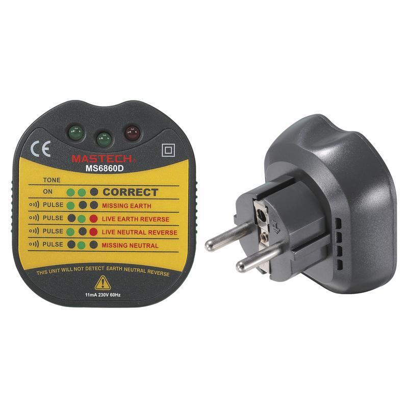 MS6860D Mastech тестер электрических розеток и заземления*