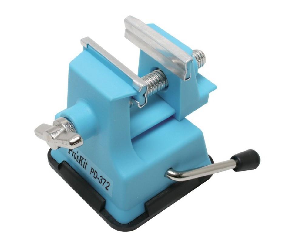 Мини-тиски полипропиленовые ProsKit PD-372 (на присоске,открытие до 25мм)
