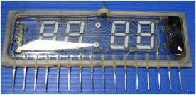 Люминисцентный часовой индикатор зелёного цвета свечения.  ИЛЦ4-5/7Л