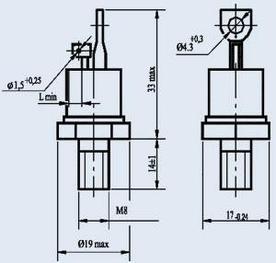 Тиристор силовой Энергия  Т132-16-14