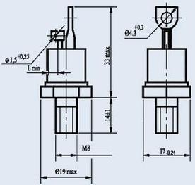 Тиристор силовой Энергия  Т132-16-17