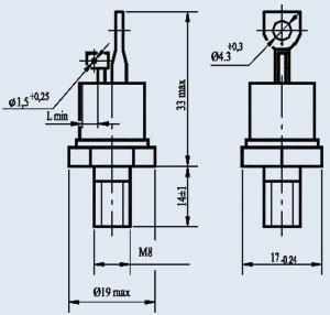 Тиристор силовой Энергия  Т132-63-1