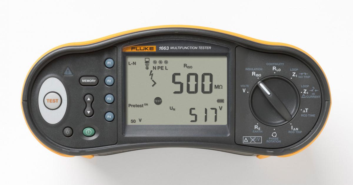 Многофункциональный тестер электроустановок Fluke 1663 SCH