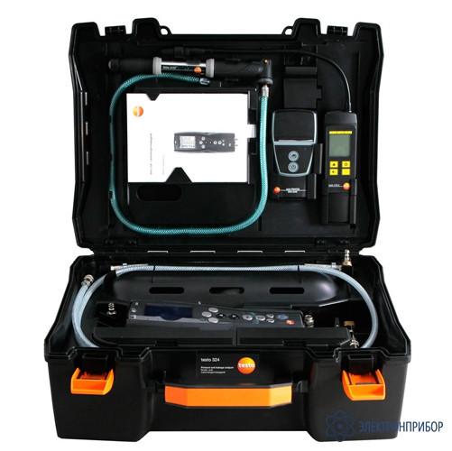 Системный кейс для testo 324 в комплекте с насосом, соединительным блоком и соединительными шлангами