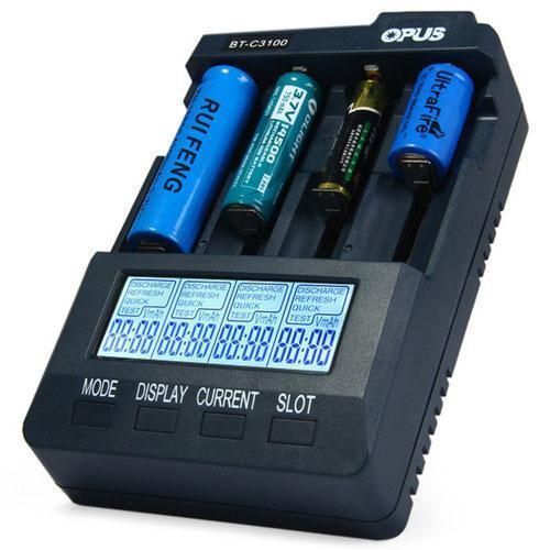 Универсальное зарядное устройство Opus BT-C3100 v.2.2 на 4 аккумулятора Li-ion/LiFePO4/Ni-MH, анализатор