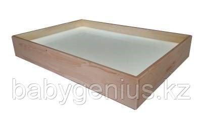 Настольный световой модуль из сосны для рисования песком