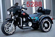 Детский электро мотоцикл Harley Glide EVA-колеса