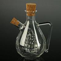 Бутыль «2 в 1» для соусов и масла «Виноград», 450/60 мл, 11×9,5×15,5 см