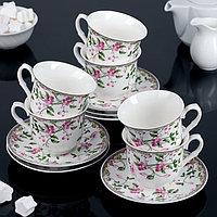 """Сервиз чайный """"Бланко"""", 12 предметов: 6 чашек 220 мл, 6 блюдец"""