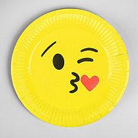 Бумажная тарелка «Поцелуйчик», набор 6 шт.