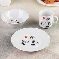 Набор посуды «Панда», 3 предмета