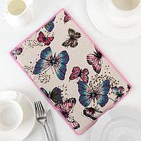 Коврик для сушки посуды «Сумеречные бабочки», 20×30 см, лён