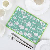Коврик для сушки посуды «Хозяйственный», 20×30 см, лён