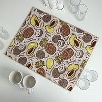 Коврик для сушки посуды «Фрукты», 38×51 см, микрофибра