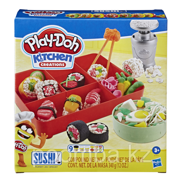 Play Doh Набор пластилина Суши - Масса для лепки Плей До