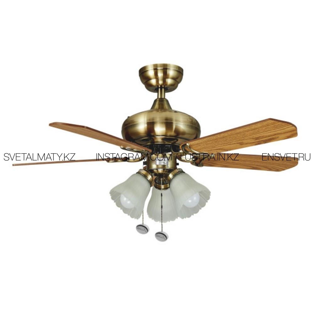 Люстра-Вентилятор ECOLUX ECO-032 AMMI-42 потолочная, бронзового цвета