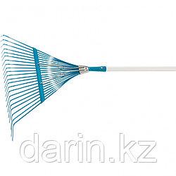 Грабли веерные стальные, 550 х 1550 мм, 22 плоских зуба, лакированный черенок, Luxe, Palisad