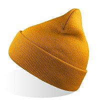 Шапка вязаная   двойная WIND с отворотом, Желтый, -, 25443.03