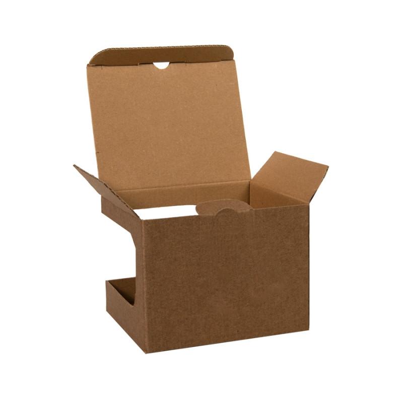 Коробка для кружек 23504, 26701, размер 12,3х10,0х9,2 см, микрогофрокартон, коричневый, коричневый, , 21043 - фото 2