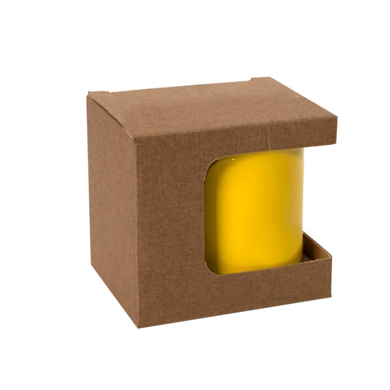 Коробка для кружек 25903, 27701, 27601, размер 11,8х9,0х10,8 см, микрогофрокартон, коричневый, коричневый, , - фото 1