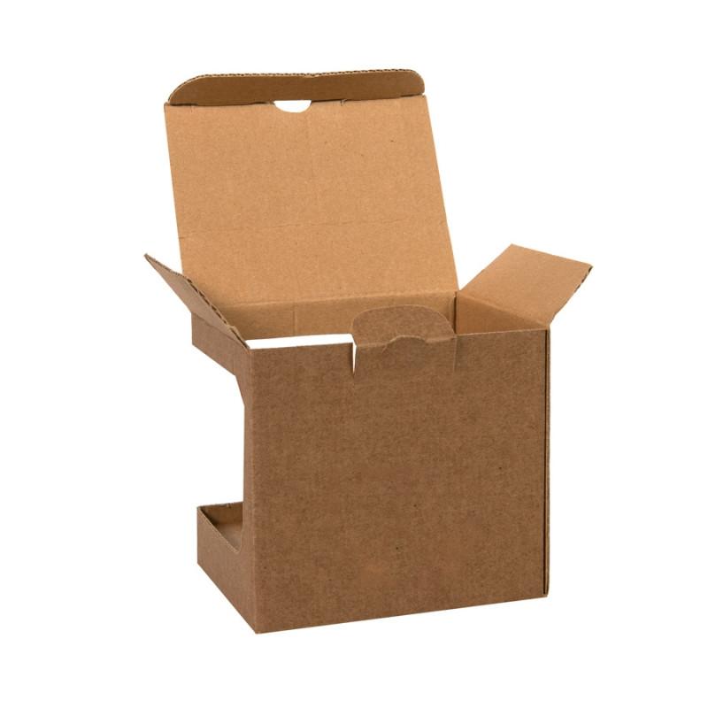Коробка для кружек 25903, 27701, 27601, размер 11,8х9,0х10,8 см, микрогофрокартон, коричневый, коричневый, , - фото 2