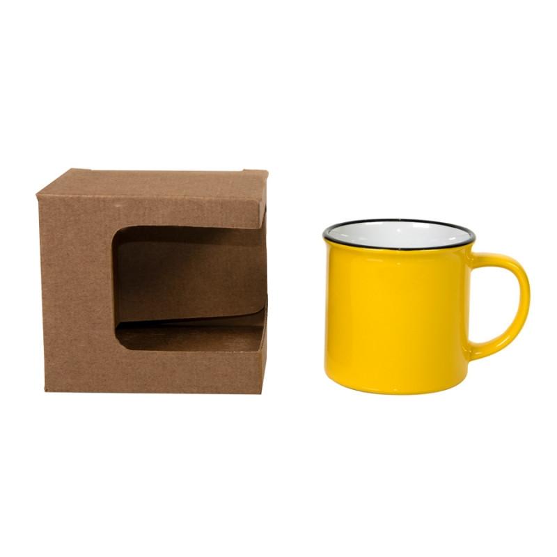 Коробка для кружек 25903, 27701, 27601, размер 11,8х9,0х10,8 см, микрогофрокартон, коричневый, коричневый, , - фото 3