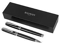Набор ручек Cherbourg в футляре: ручка шариковая и роллер, черный, черные чернила