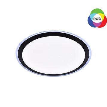 Люстра с ПДУ 60136/550 96Вт LED RGB диммир., 3000-6000К черный 55х9см