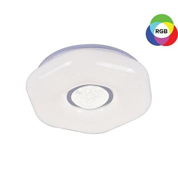 Люстра с ПДУ 40136/400 72Вт LED RGB диммир., 3000-6000К белый 40х10см