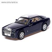 Машина металлическая «Лимузин», открываются двери, капот, багажник, инерция, цвет синий