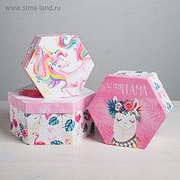 Набор коробок-шестиграников 3 в 1 «Персонажи», 16 × 16 × 8 - 21 × 21 × 10 см