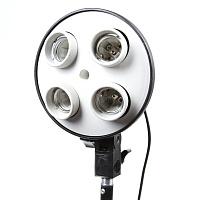 Головка на 4 лампы с держателем для софтбокса, (БЕЗ СТОЙКИ)