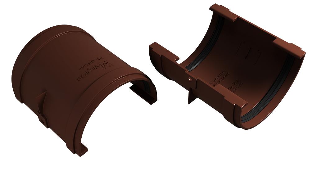 Соединитель желоба 125x90 мм Коричневый  VINYLON