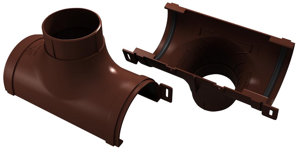 Воронка желоба 125x90 мм Коричневый VINYLON