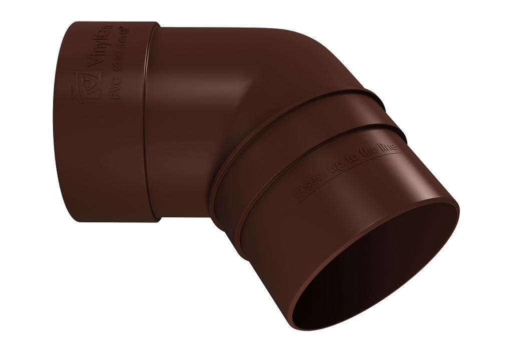 Колено трубы 67° 90 мм Коричневый VINYLON