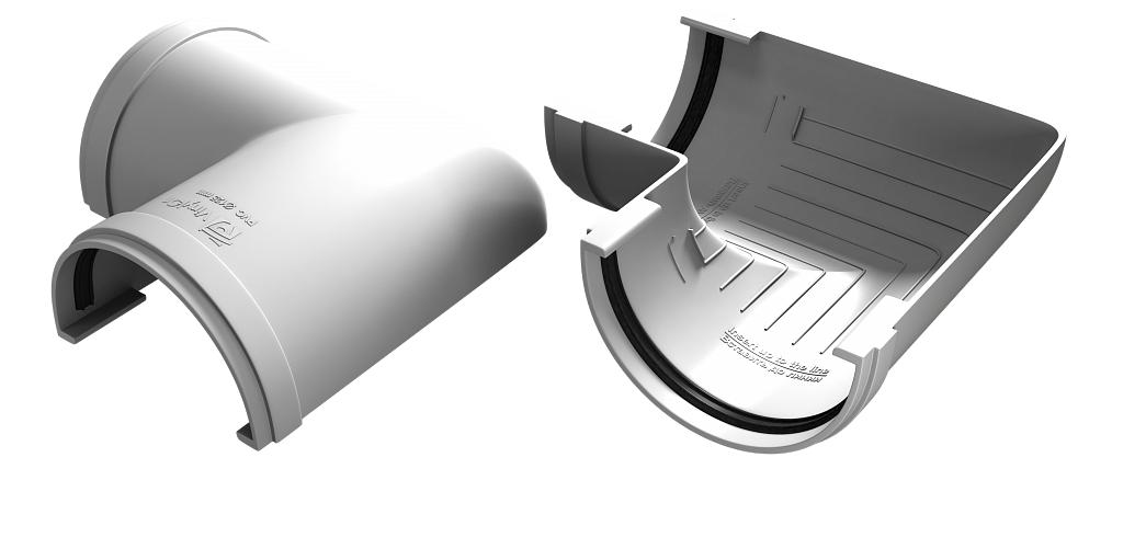 Угол желоба 90° 125x90 мм Белый VINYLON
