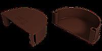 Заглушка воронки универсальная 125x90 мм Коричневый  VINYLON