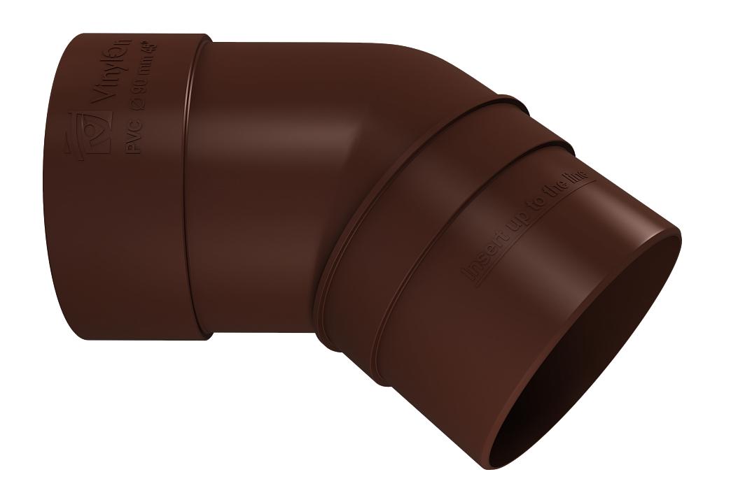 Колено трубы 45° 90 мм Коричневый VINYLON