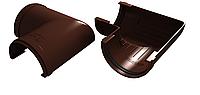 Угол желоба 90° 125x90 мм Коричневый  VINYLON