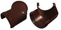 Угол желоба УНИВЕРСАЛЬНЫЙ 135° 125x90 мм Коричневый VINYLON